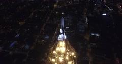 Bank of America Plaza Atlanta Aerial Building Birds Eye Track Spire Top Stock Footage