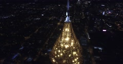 Bank of America Plaza Atlanta Aerial Building Rise to Spire Tilt Down Stock Footage