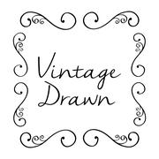 Vintage draw design. ornament icon. sketch concept Stock Illustration