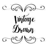Vintage draw design. ornament icon. sketch concept Stock Illustration