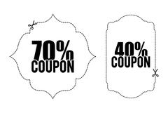 Coupon design. sale icon. shopping concept Stock Illustration