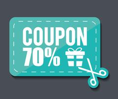 Coupon design. sale icon. shopping concept - stock illustration