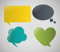 communication design. bubble icon. conversation concept - stock illustration