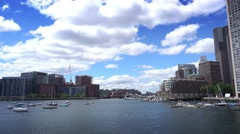 Boston Harbor Establishing Shot  	 Stock Footage