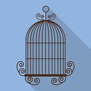 Birdcages icon. Decoration object. vintage concept, vector graph - stock illustration