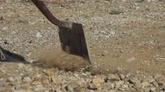 Close-up of a shovel digging Stock Footage