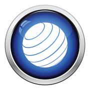 Fitness rubber ball icon Stock Illustration