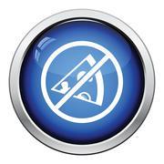 Prohibited pizza icon - stock illustration