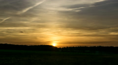 Homeland   Warm Winter Sunset - stock footage