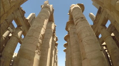 Karnak Egypt temple columns Stock Footage