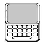 cellphone with five buttons - stock illustration
