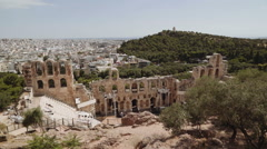 The Odeon of Herodes Atticus in the Acropolis of Athens, Greece Stock Footage
