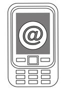 cellphone icon design - stock illustration