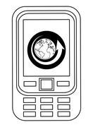 cellphone icon design - stock illustration