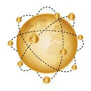 Bitcoin design illustration Piirros