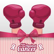 Cancer design illustration - stock illustration