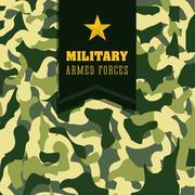 Army design illustration Stock Illustration