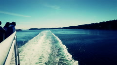 Ferry boat trail. Stock Footage