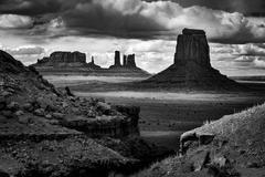 John Ford Point Monument Valley Black and White Stock Photos