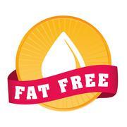 Fat free design - stock illustration