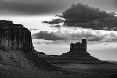 Castle Butte Monument Valley Black and White Kuvituskuvat