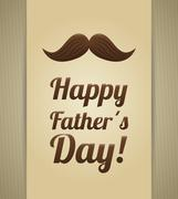 Happy fathers day card design - stock illustration