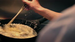 Cooking of tempura Stock Footage