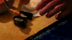 Sushi chef's work - stock footage