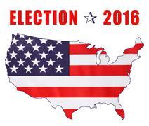USA 2016 Presidential Election Flag Stock Illustration