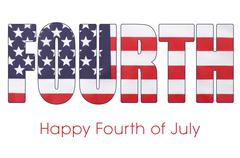 Fourth of July Flag Letters Outline - stock photo