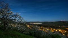 Homeland | Moonlit Night in Spring over the Main Valley - stock footage