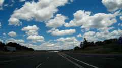 POV dashcam driving on new Ontario 407 east highway Stock Footage