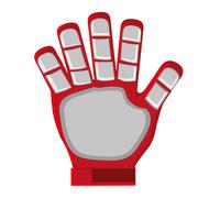red goalkeeper glove - stock illustration