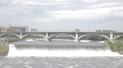 Continuous effluence of water of the Mississippi - stock footage