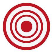 bullseye target icon - stock illustration