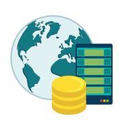 Data base design - stock illustration