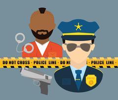 Police design. illuistration Stock Illustration