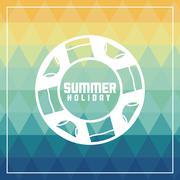 Summer design. float  icon. polygon. vector graphic - stock illustration