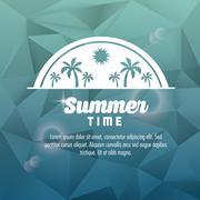 Summer design. palm tree icon. polygon design - stock illustration