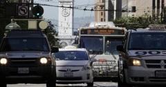 San Francisco Downtown Traffic on Market Street 4k Stock Footage