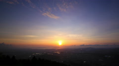 Beautiful sunset over Fukuoka, Japan. 4k Time-lapse Stock Footage