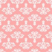 Seamless Vector Wallpaper in the Style of Baroque - stock illustration