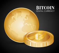 Bitcoin design. illuistration Piirros