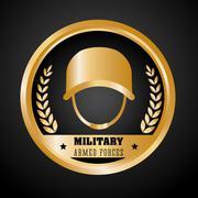 Army design. illuistration - stock illustration