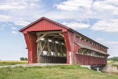 Culbertson Covered Bridge - stock photo