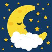 Sleep design. illuistration Stock Illustration