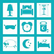 Sleep design. illuistration - stock illustration