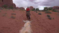Monument Valley Horseback Riding - stock footage