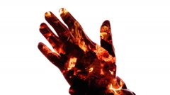 Religion pray charcoal hands Stock Footage
