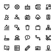 Internet, Networking and Communication Icons Pack - stock illustration